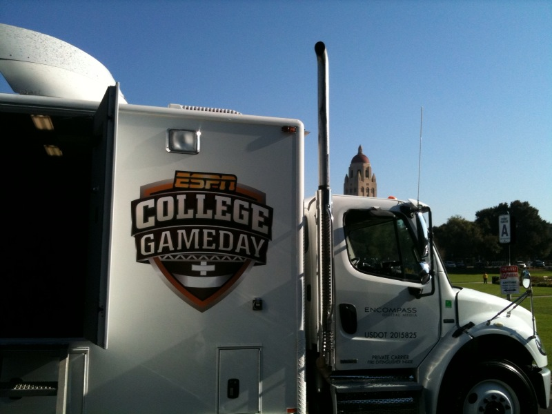The College GameDay truck that beams the signal back to ESPN.