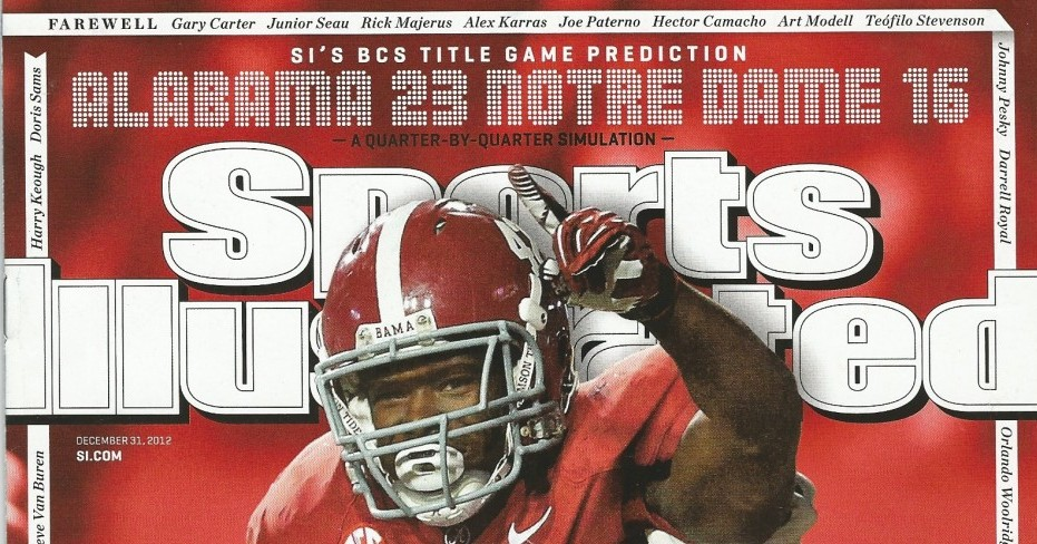 Ed Feng, founder of The Power Rank, predicted an Alabama win over Notre Dame in 2012 on the cover of Sports Illustrated.