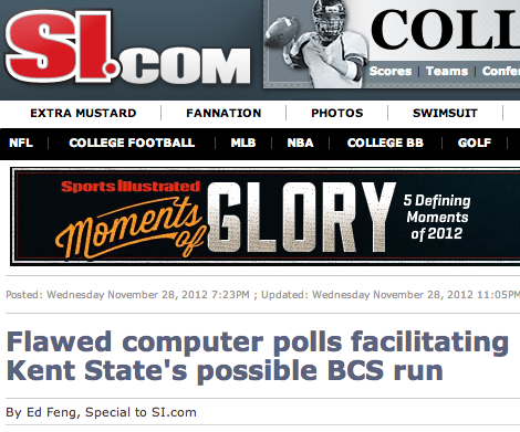 Ed Feng exposes flawed Colley Matrix computer poll used by BCS
