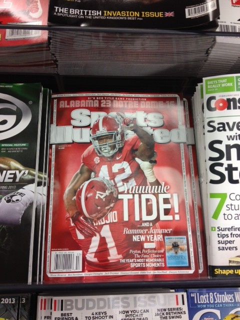 The Power Rank's article on the BCS title game made the cover down South.